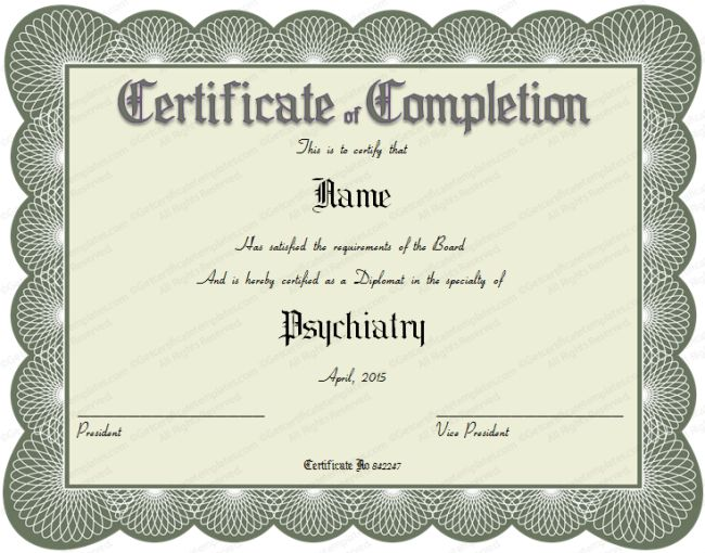 Gorgeous Certificate of Completion Template Example with Gray ...