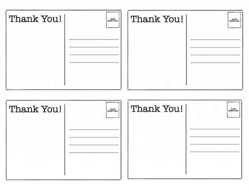 Free Printable Postcard Template - Template Update234.com ...