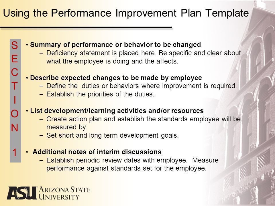 Arizona State University Performance Management Program Guidelines ...
