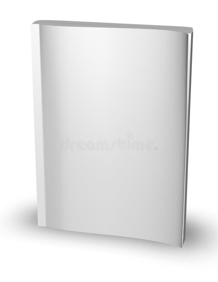 3d Empty Paper Magazine, Diary Template Standing With Blank Cover ...