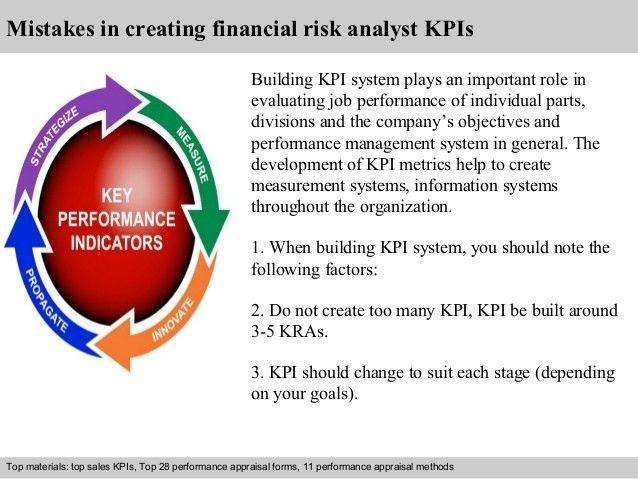 Financial risk analyst kpi
