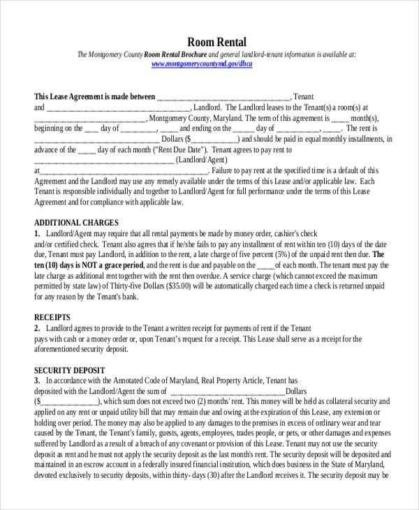 Sample Rental Agreement Form - 10+ Free Documents in Doc, PDF