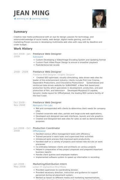 Web Designer Resumes - Best Resume Collection