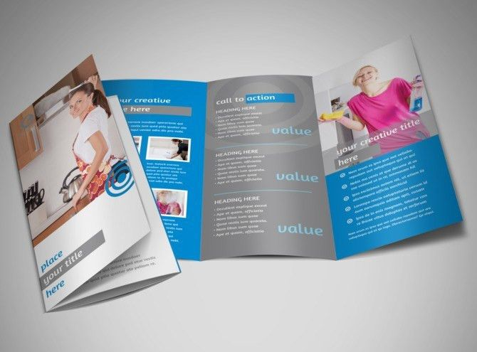 House Cleaning Service Brochure Template | MyCreativeShop