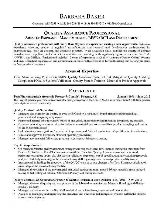 The Awesome Qa Qc Manager Resume | Resume Format Web