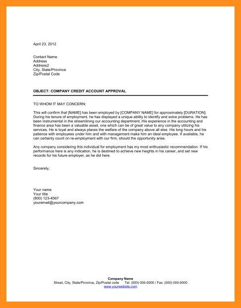 7+ employment referral letter | fillin resume