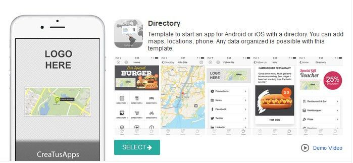 Template for build an Application for Android from a Directory