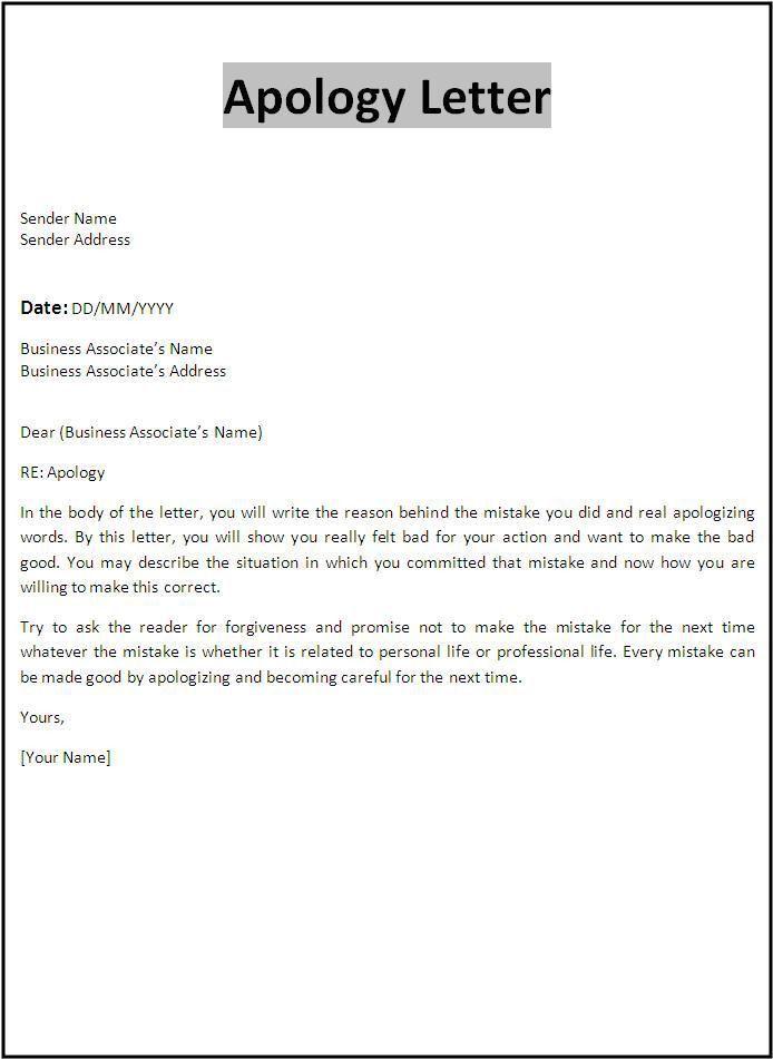 Sample Apology Letter To Your Boss - Shishita-world.com