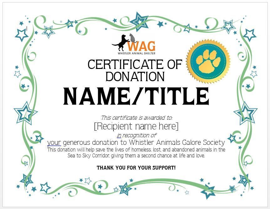 Donation certificate template 7 printable donation certificates donation certificate template 10 elegant certificate of yadclub Images