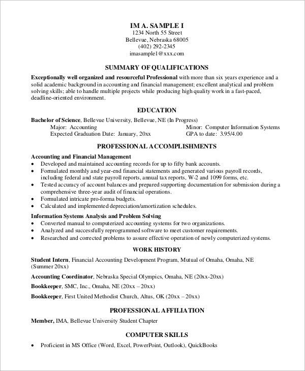 Sample Professional Resume - 7+ Examples in PDF