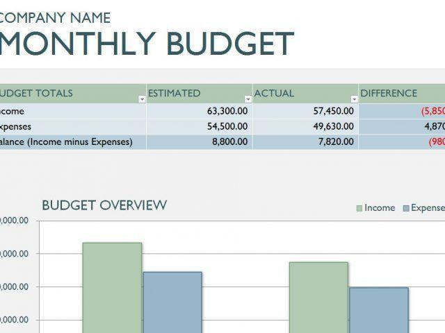 company budget example
