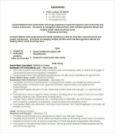 Social Work Resume - 9+ Free Word, PDF Documents Download | Free ...