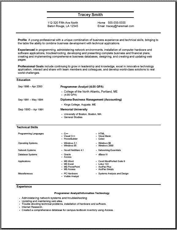 Resume Builder On Word - Resume CV Cover Letter