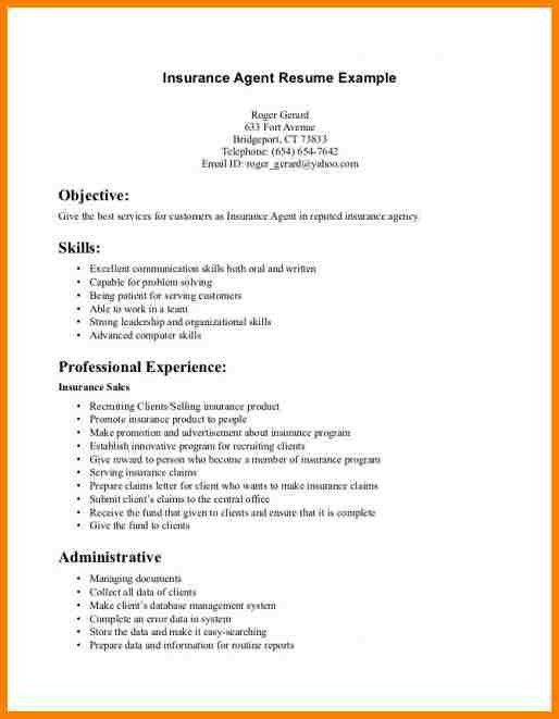 6+ life insurance agent resume | monthly bills template
