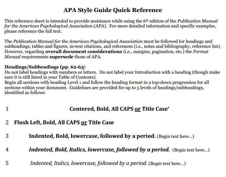 Example of research paper in apa format 6th edition