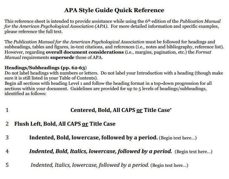 apa format 6th edition sample essay