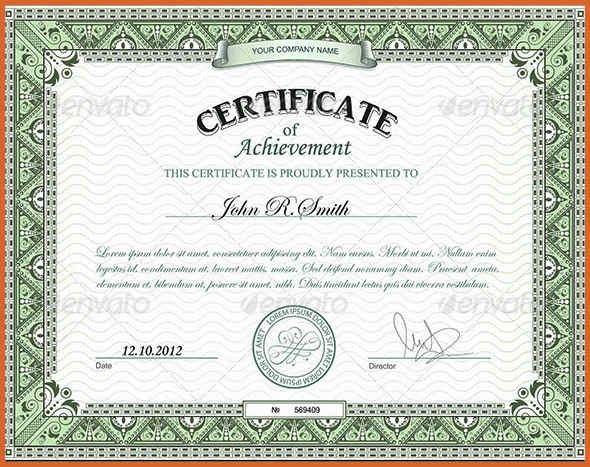certificate of achievement | resume name