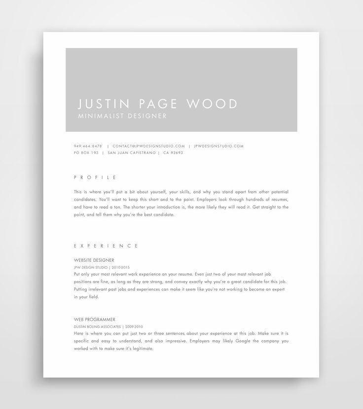 The 25+ best Perfect resume ideas on Pinterest | Resume tips, Job ...