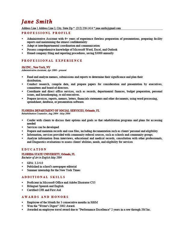Exclusive Design Professional Profile Resume Examples 3 How To ...