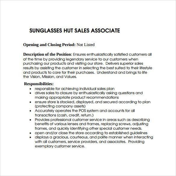 simple sales associate resume medium size simple sales associate ...