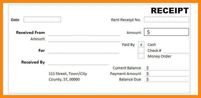 Rent Receipt Form. 10 Best Images Of Receipt Template Word ...