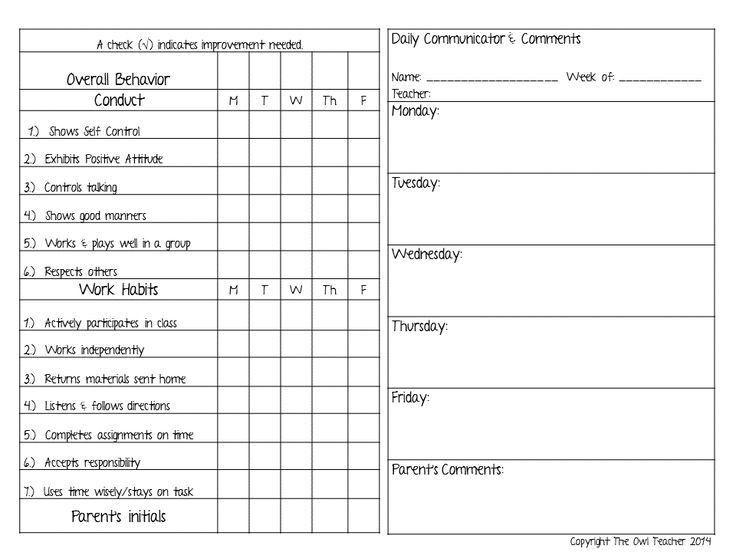 Top 25+ best Behavior contract ideas on Pinterest   Classroom ...