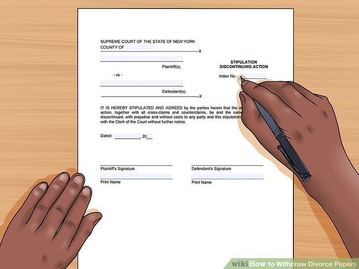 How to Withdraw Divorce Papers: 8 Steps (with Pictures) - wikiHow