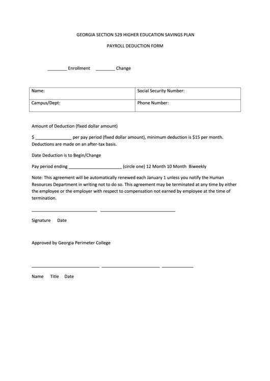 17 Payroll Deduction Form Templates free to download in PDF, Word ...