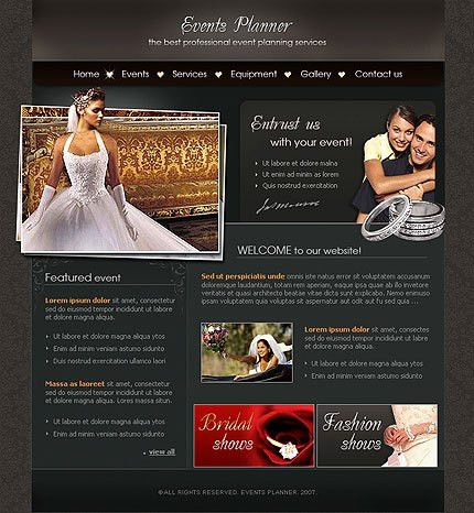 Flash Template Event Planner #169 professional flash web design at ...