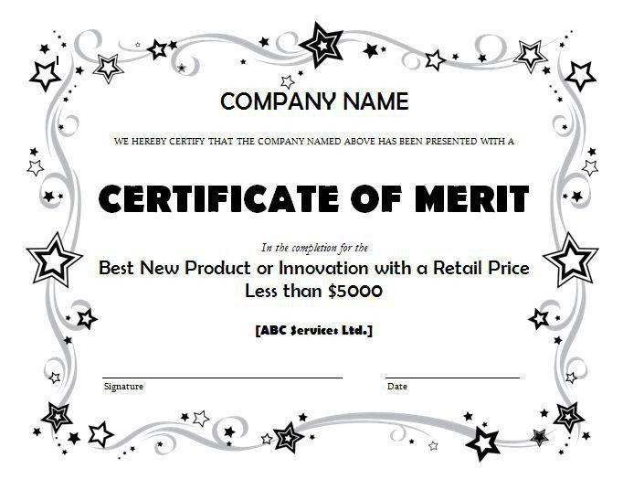 award-business-certificate-template