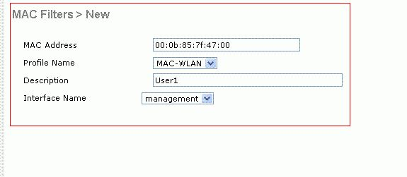 MAC Filters with Wireless LAN Controllers (WLCs) Configuration ...