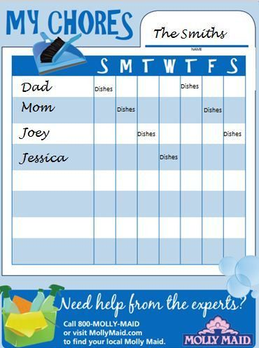 Family House Cleaning Schedule - A Weekly Schedule to Keep it Clean!