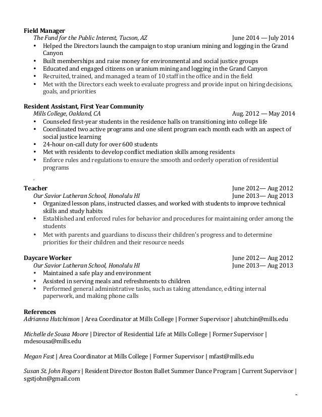 Yee, Ashley - Student Affairs Resume