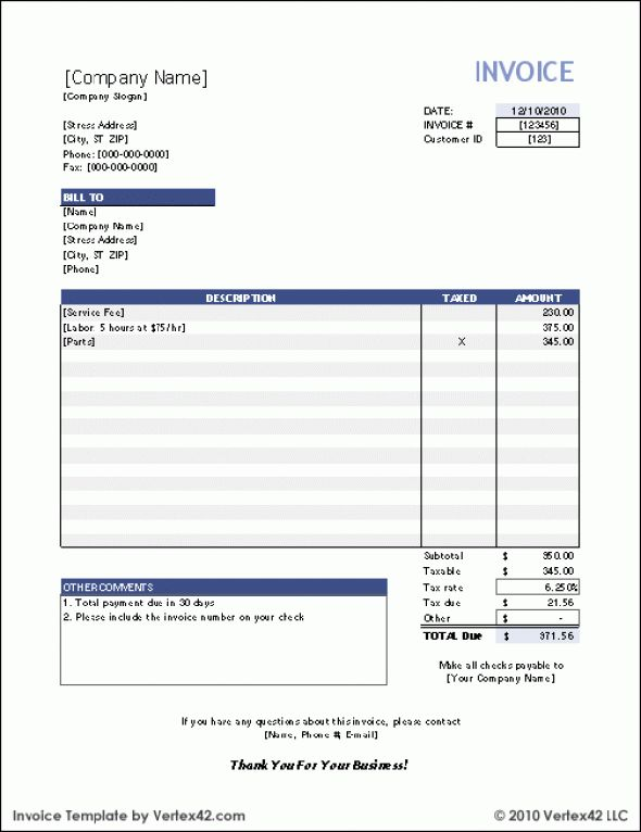 Download Tax Invoice Form | rabitah.net