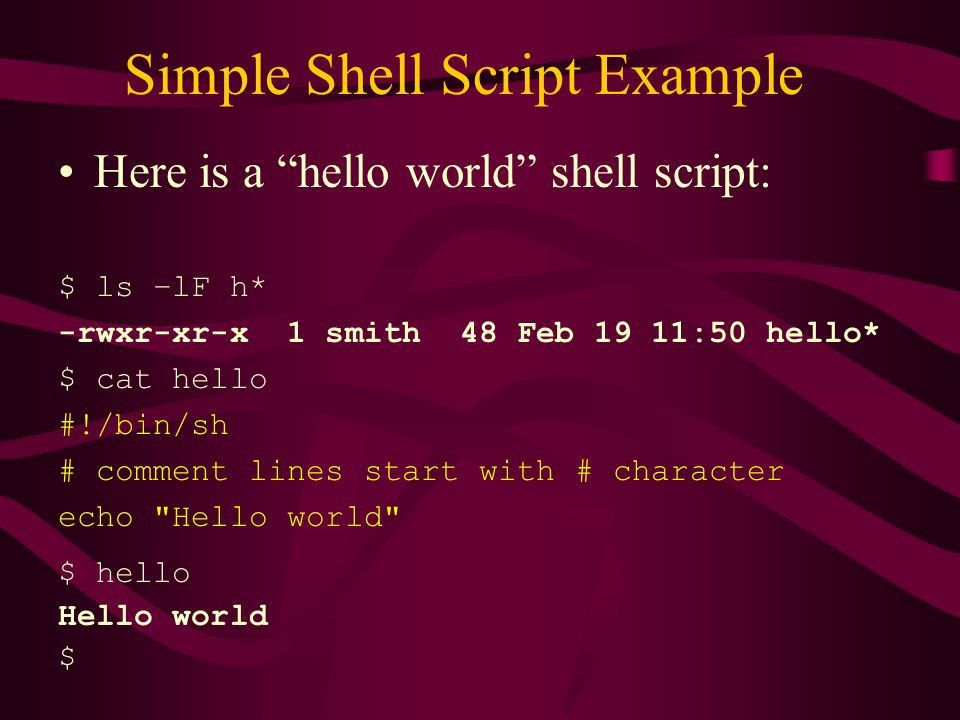 CS465 - UNIX The Bourne Shell. - ppt video online download