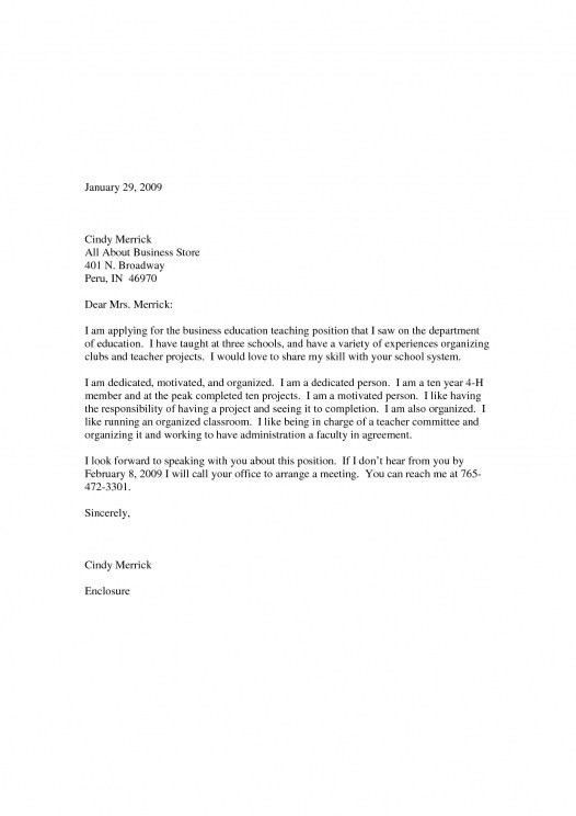 middle school teacher cover letter example. cover letter template ...