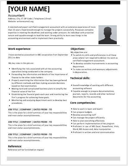 Certified Management Accountant Resume Contents, Layouts ...