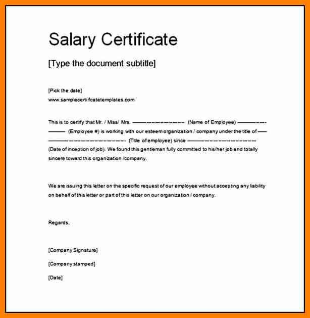 6+ salary certificate word format | forklift resume