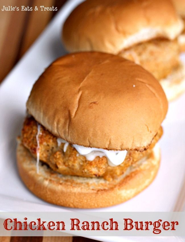 Chicken Ranch Burgers