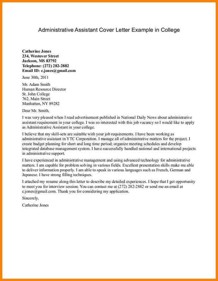 Awesome Design Ideas College Cover Letter Examples 8 Recent ...