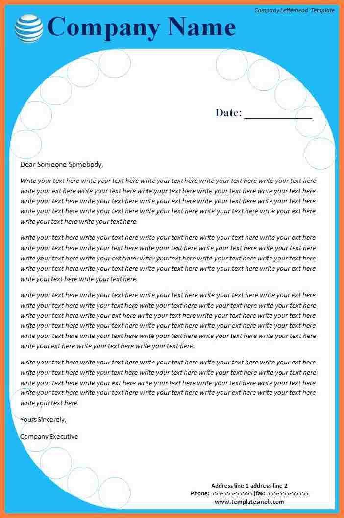 8+ company letterhead template word 2007 | Company Letterhead