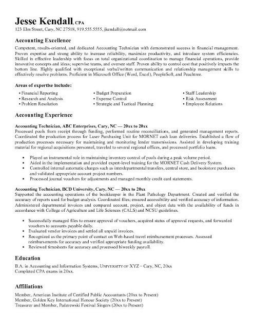Staff Accountant Resume Sample Education In Accounting And ...