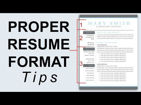 proper-resume-formats-formats-literally-communication-formatting-a ...