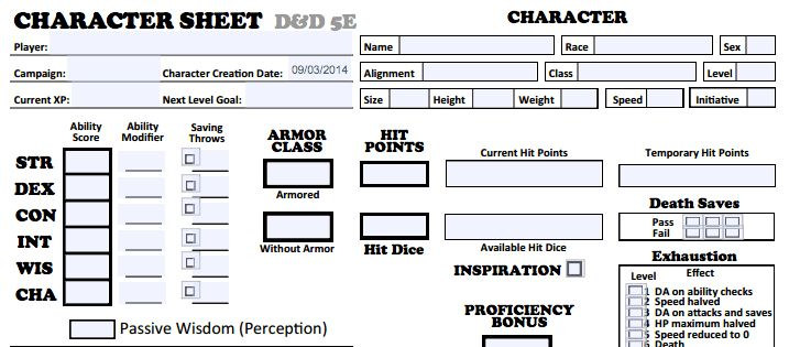Five Awesome D&D 5E Character Sheets – Clever Move