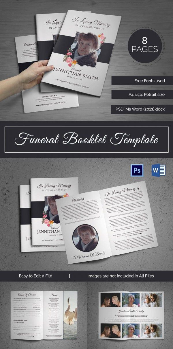 20+ Funeral Booklet Templates - Free PSD, AI, Vector, EPS Format ...