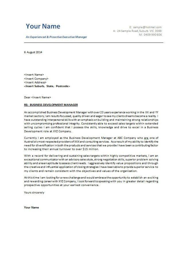 Universal Cover Letter Samples | The Best Letter Sample