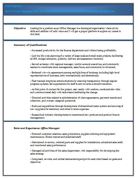 sample experience resume format with regard to resume format for ...