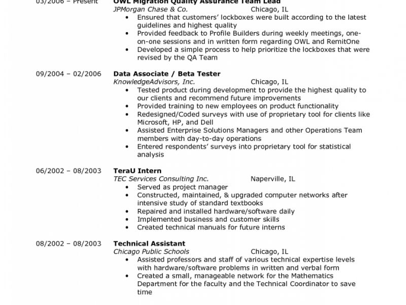 Qa Test Lead Resume - Contegri.com