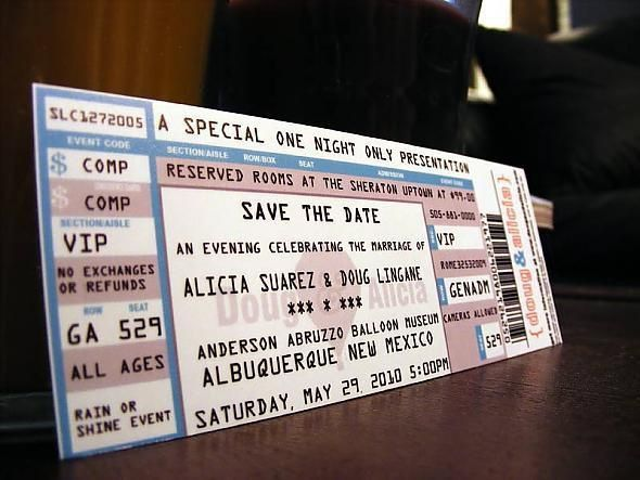 "Any Bees that made ""concert ticket"" invitations? - Weddingbee"