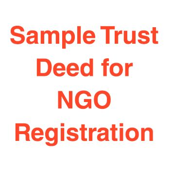 Trust Deed Format India Sample 2014
